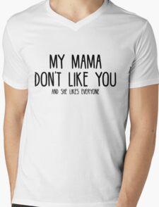 Justin Bieber - My Mama Don't Like You - Black Mens V-Neck T-Shirt