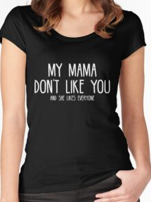 Justin Bieber - My Mama Don't Like You - White Print Women's Fitted Scoop T-Shirt