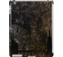 Town and spooky night, dark, night, moon, scary iPad Case/Skin