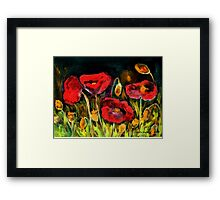 Red Explosion Framed Print