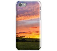 Tree lined sunst iPhone Case/Skin