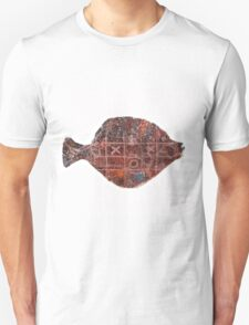 Noughts and crosses on the fish, orange, blue, red, white, black T-Shirt