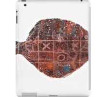 Noughts and crosses on the fish, orange, blue, red, white, black iPad Case/Skin