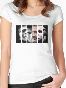 Faces of evil Women's Fitted Scoop T-Shirt