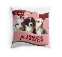Australian Shepherd puppies Throw Pillow
