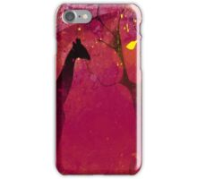 Pink, giraffe, tree, loneliness iPhone Case/Skin
