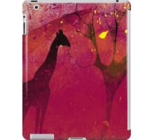 Pink, giraffe, tree, loneliness iPad Case/Skin