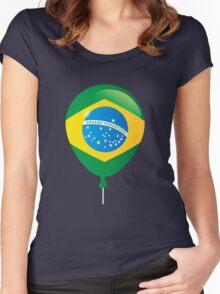 Brazilian flag Women's Fitted Scoop T-Shirt
