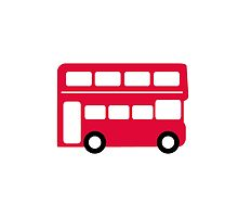 Big Red Bus by ilovecotton