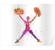 young woman cheerleader 02 Poster