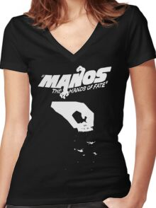 Hands the manos of fate Women's Fitted V-Neck T-Shirt