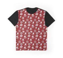 Eight Auspicious Symbols Pattern Graphic T-Shirt