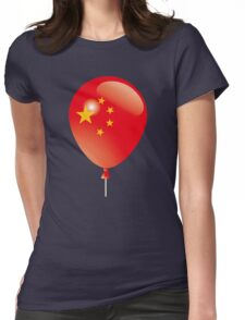 Chinese flag Womens Fitted T-Shirt