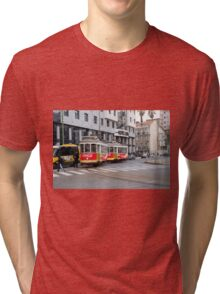 Electric Tram Lisbon Tri-blend T-Shirt