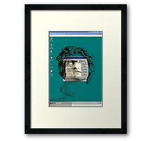 Crack a window Framed Print