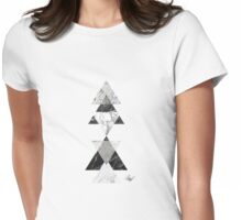 Marble triangles Womens Fitted T-Shirt