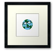Nerdy Earth Framed Print