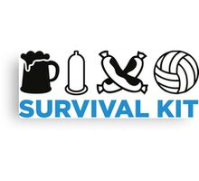 Survival Kit for Men Canvas Print