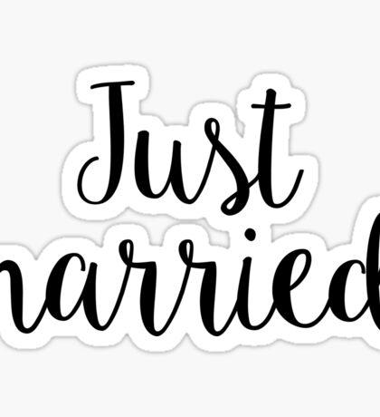 Just Married Newly Wed Honeymoon Sticker