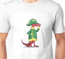 Illustration of a Tyrannosaur Rex dressed as Napoleon. Unisex T-Shirt