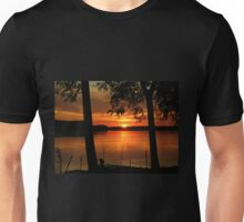 The sunset on the Danube..... Unisex T-Shirt