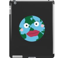 Kissing earth iPad Case/Skin