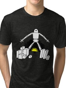 Robot in the sunset Tri-blend T-Shirt
