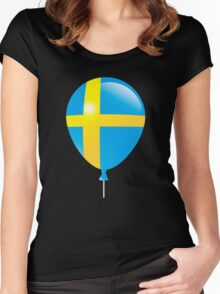 Sweden Flag Women's Fitted Scoop T-Shirt