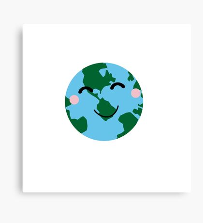 Happy Earth Canvas Print