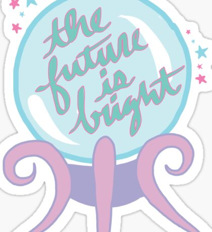 Crystal ball future magic witch tumblr pastel occult supernatural print Sticker