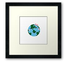 Happy Earth Framed Print
