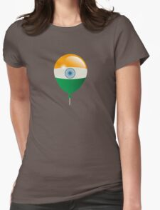 Indian flag Womens Fitted T-Shirt