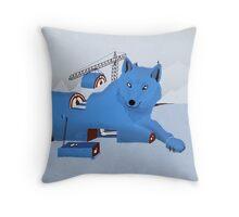 Building a Wolf Throw Pillow