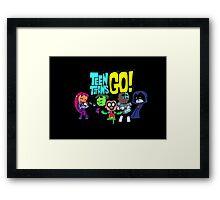 Chibi Titans Go!  Framed Print