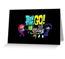 Chibi Titans Go!  Greeting Card