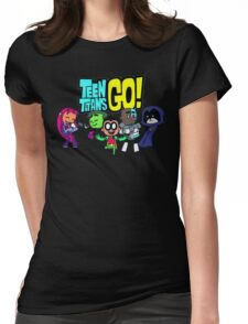 Chibi Titans Go!  Womens Fitted T-Shirt