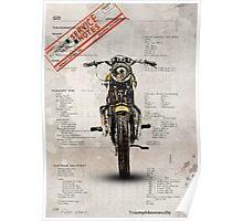 Triumph Bonneville T120 1964 Poster