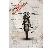 Triumph Bonneville T120 1964 Photographic Print