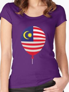 Malaysia Flag Women's Fitted Scoop T-Shirt