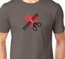 scissors & comb & heart Unisex T-Shirt