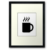 Hot beverage cup Framed Print