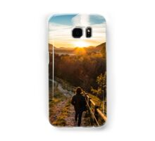walking down to the sunset Samsung Galaxy Case/Skin