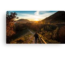 walking down to the sunset Canvas Print