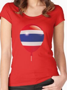 Thailand Flag Women's Fitted Scoop T-Shirt