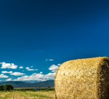 hay bale in the field Sticker