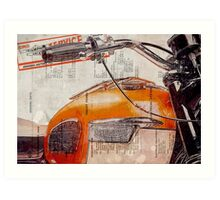 Triumph Bonneville T120 1964 Art Print