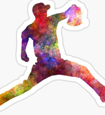 Baseball player throwing a ball Sticker