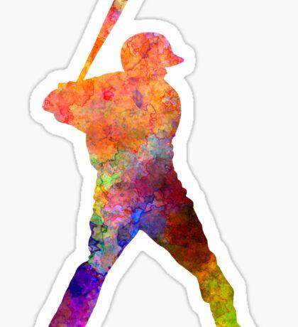 Baseball player waiting for a ball Sticker