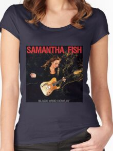 samantha fish Women's Fitted Scoop T-Shirt