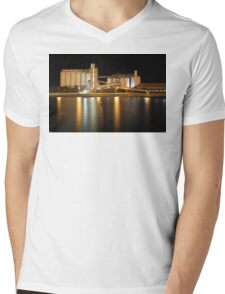 Wallaroo Silo's at Night Mens V-Neck T-Shirt